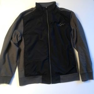 Greg Norman For Tasso Elba Gray Black Zip Jacket